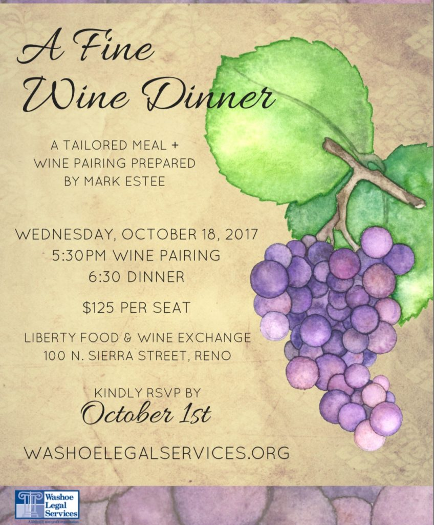 WLS - Flyer - Fine Wine Dinner