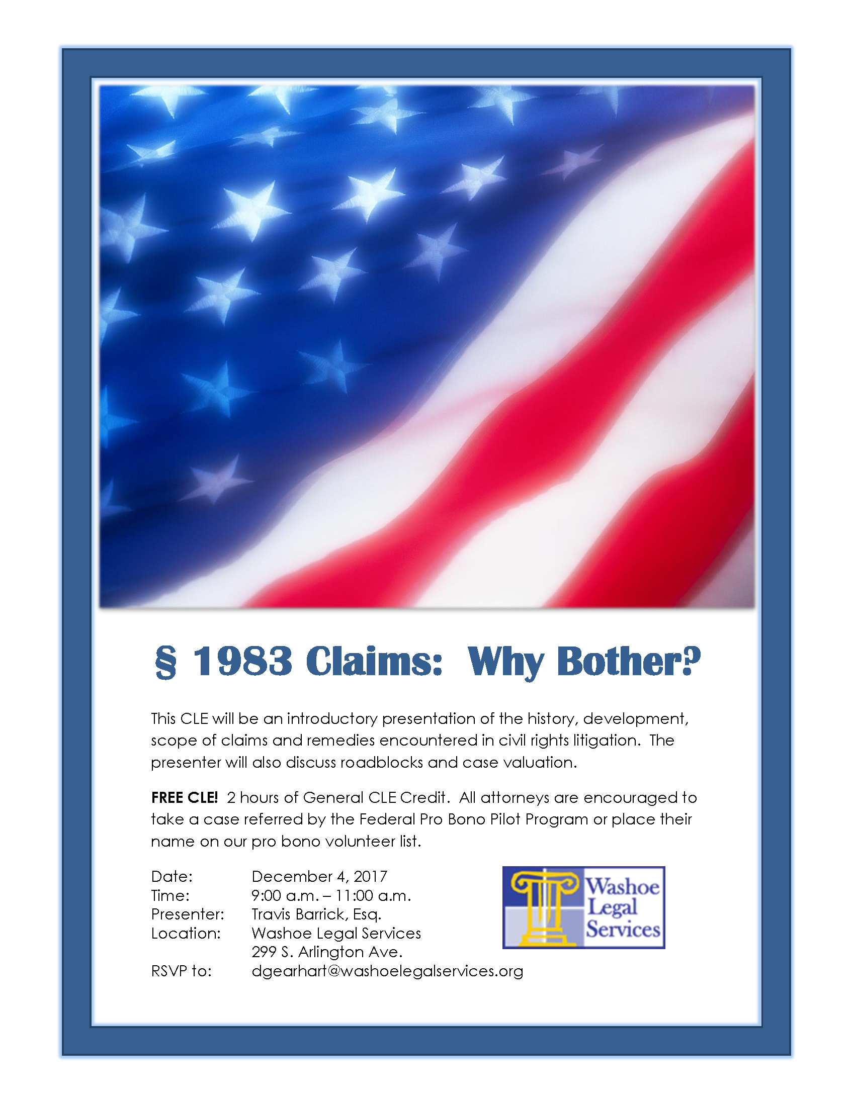 Free CLE training seminar - 1983 Claims