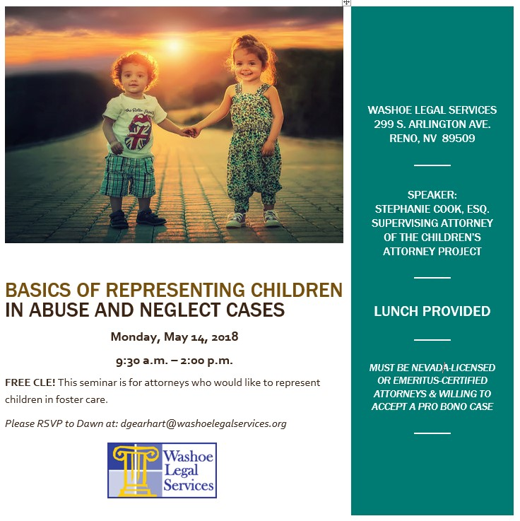 Washoe Legal Services CLE - Basics of representing children