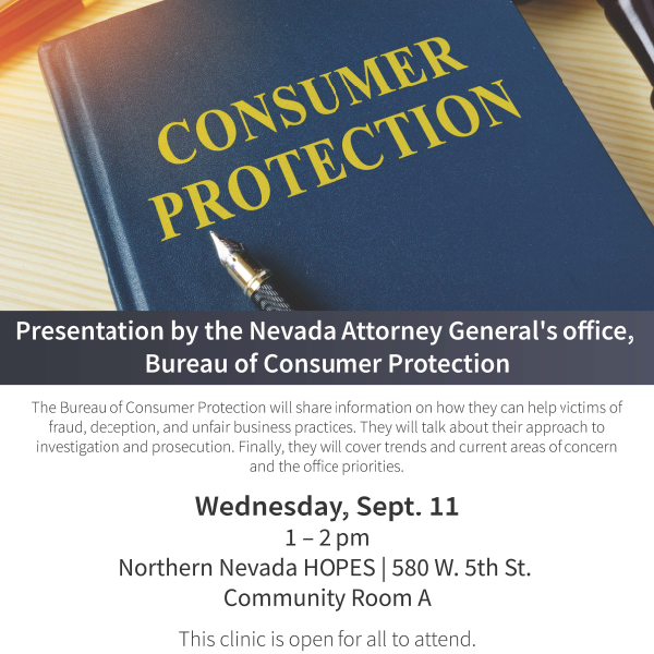 Washoe Legal Services Training Consumer Protection 2019