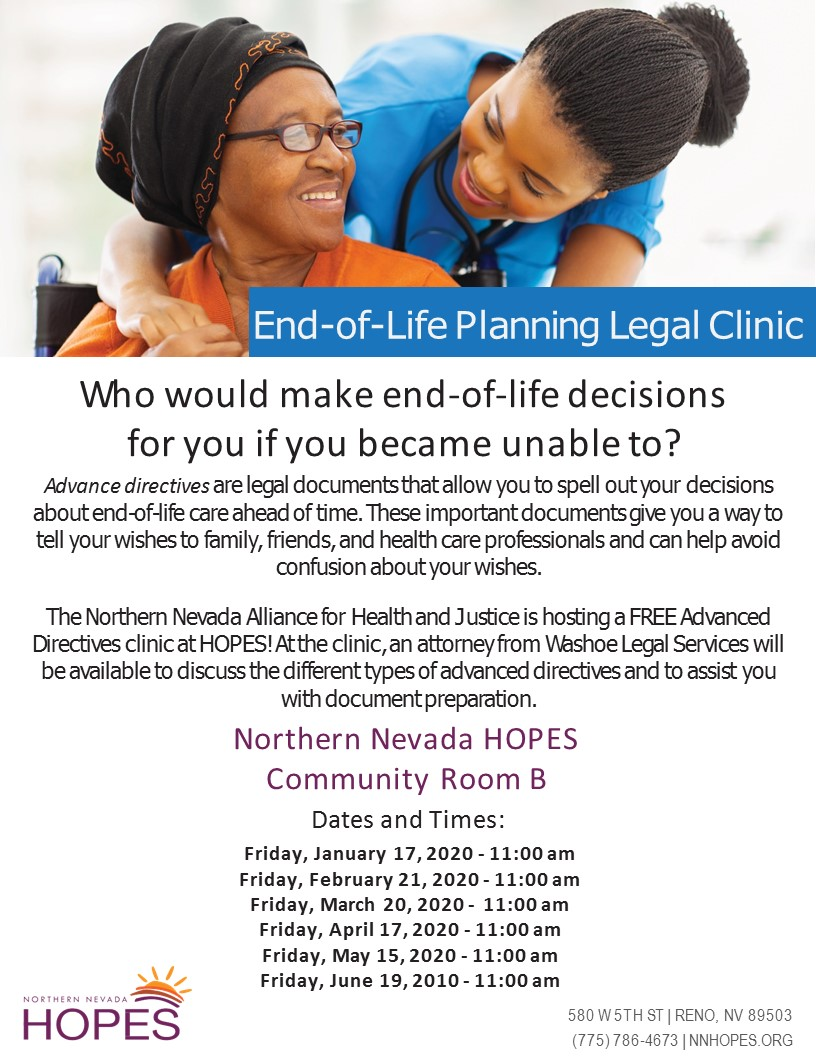 WLS - End of Life Clinic 2020