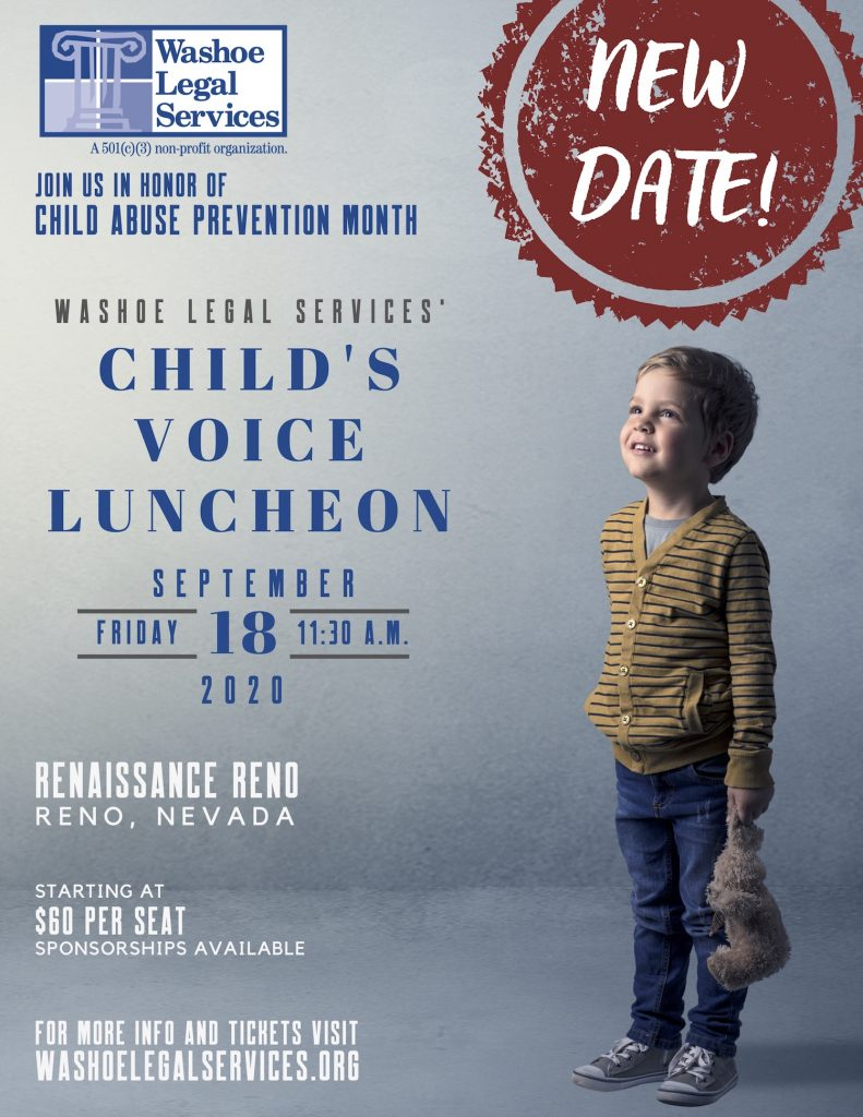 Washoe Legal Services Child Luncheon September 2020